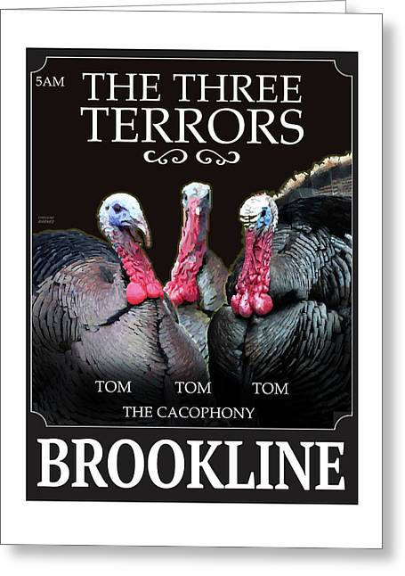 The Three Terrors Greeting Card
