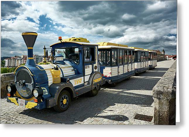 The Touristic Train Of Ourense Greeting Card