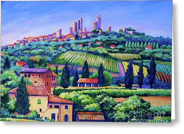 The Towers Of San Gimignano Greeting Card
