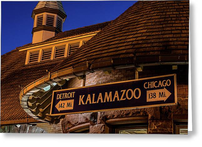 The Train Station In Kalamazoo Greeting Card