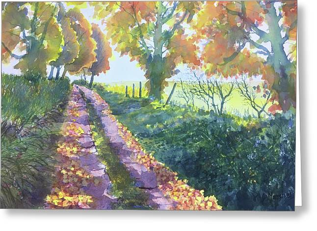 The Tunnel In Autumn Greeting Card
