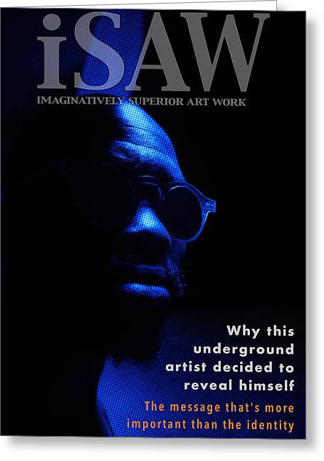 Greeting Card featuring the digital art The Underground Artist by ISAW Company