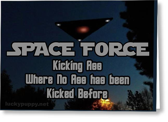 The United States . Space Force Greeting Card