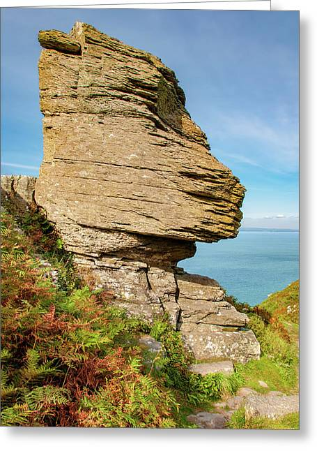The Valley Of The Rocks Greeting Card