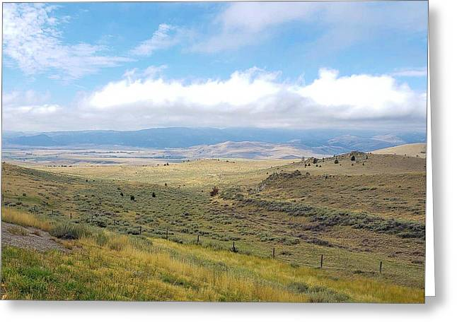 Greeting Card featuring the photograph Montana Viewwwww by Deahn      Benware
