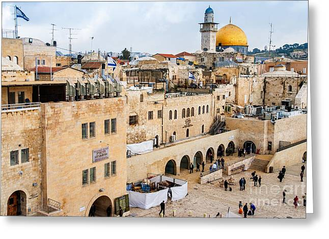 The Western Wall,temple Mount Greeting Card