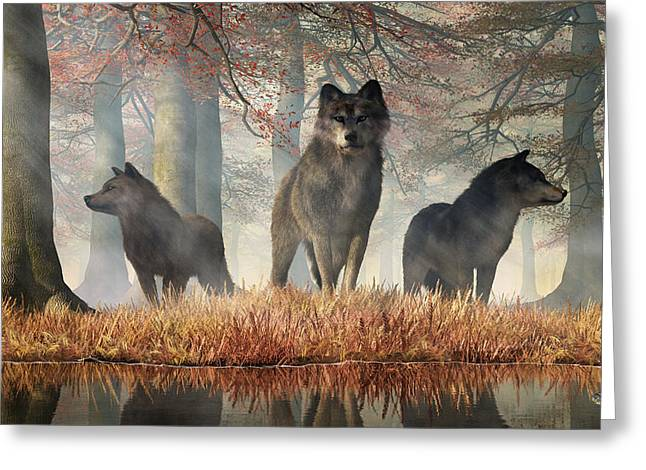 The Wolves Of Autumn Greeting Card
