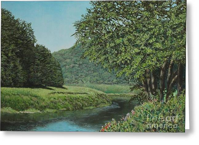 The Wye River Of Wales Greeting Card