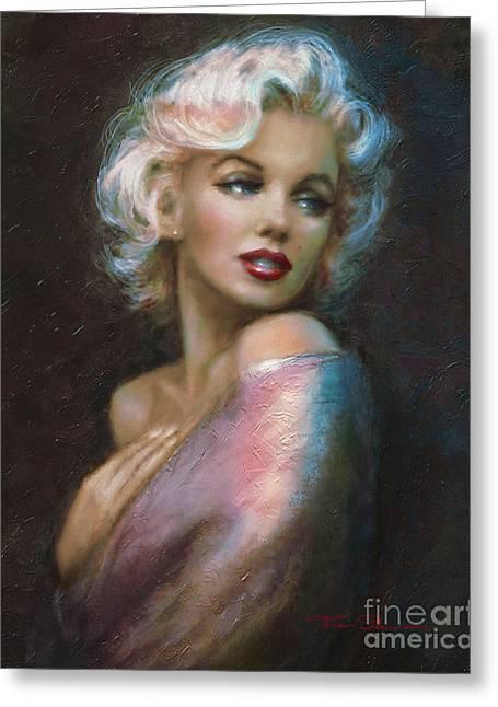 Theo's Marilyn Ww Blue Greeting Card