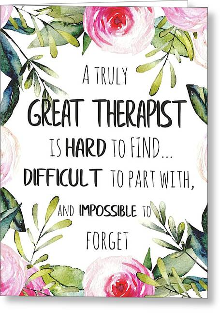 Therapist Thank You Note Greeting Card