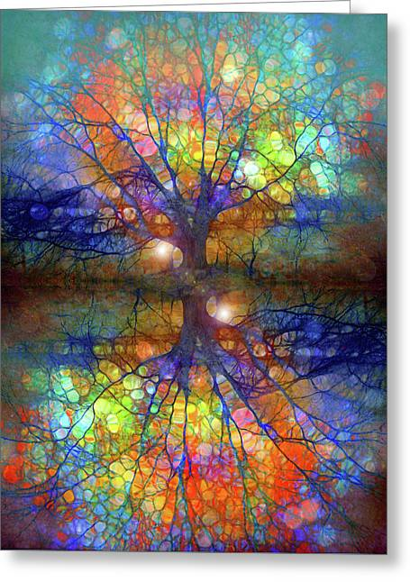 There Is Light Even In These Dark Roots Greeting Card