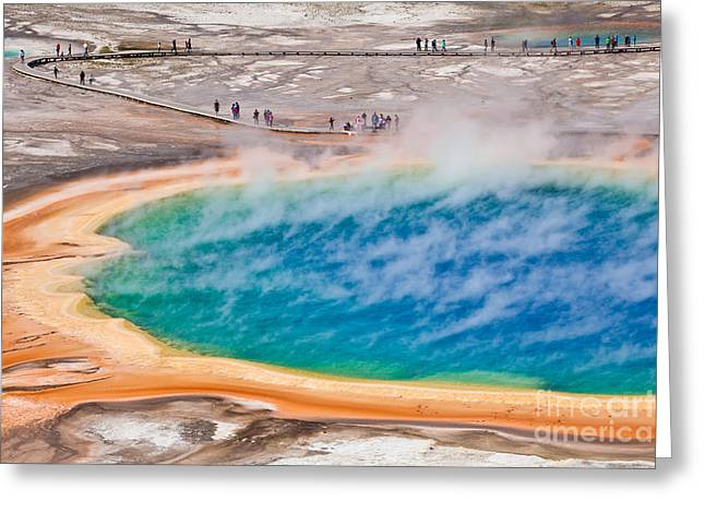 Thermal Pool In Yellowstone National Greeting Card