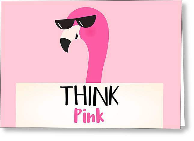 Think Pink - Baby Room Nursery Art Poster Print Greeting Card