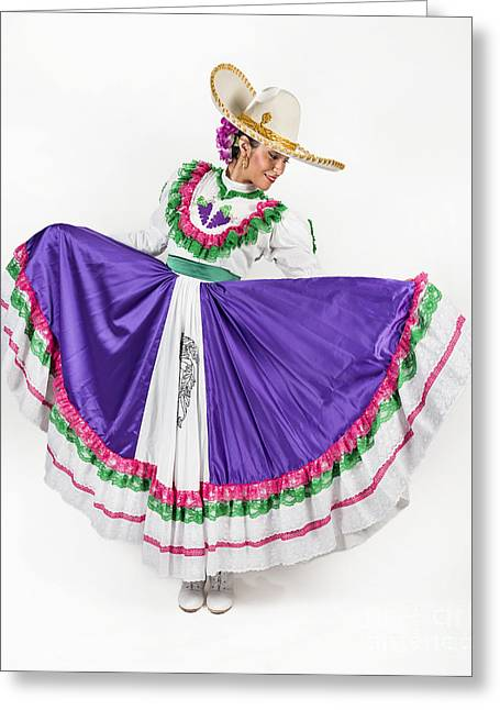 This Charming Dancer Is Wearing A Greeting Card