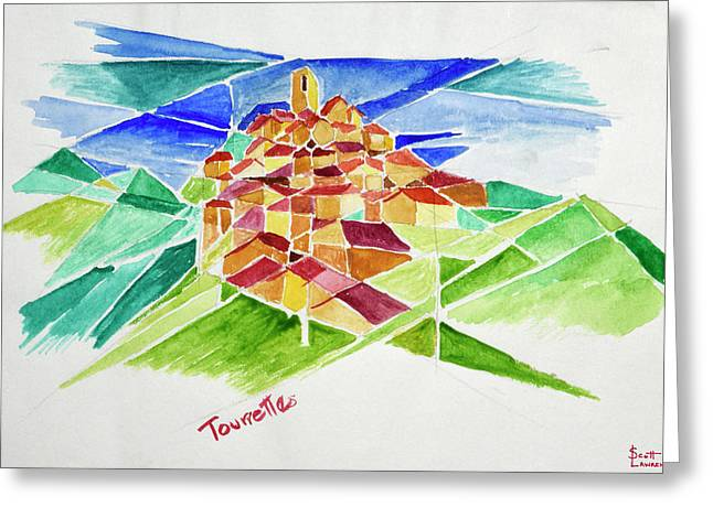 This Is A Cubist View Of Tourette Greeting Card