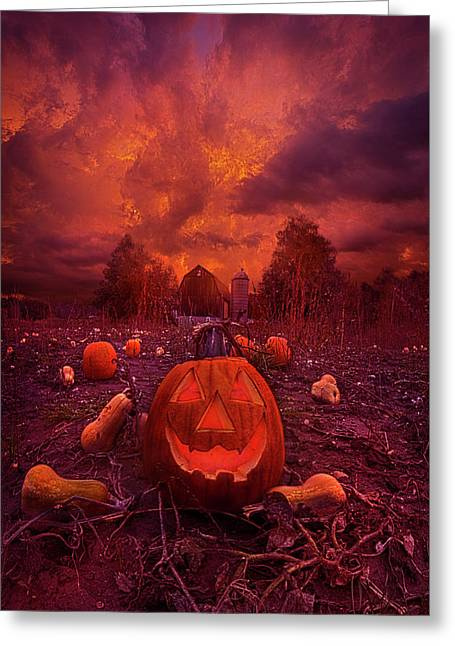 Greeting Card featuring the photograph This Is Halloween by Phil Koch