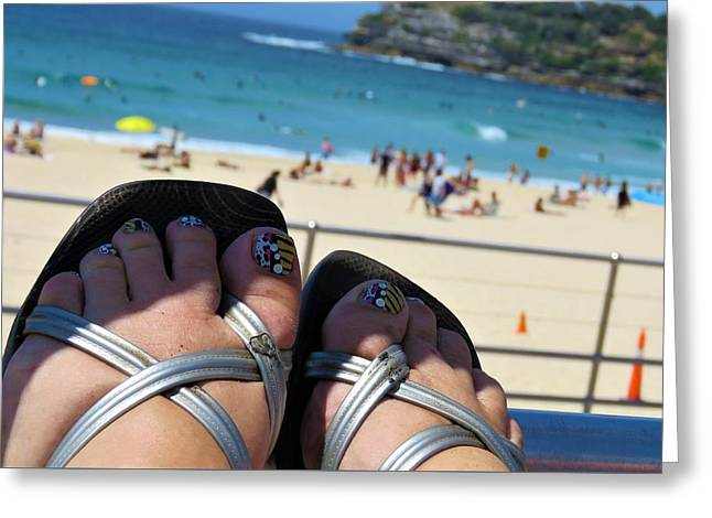 Thongs On Bondi 2 Greeting Card