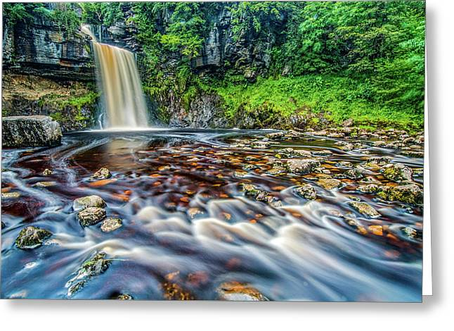Thornton Force Waterfall Greeting Card by David Ross