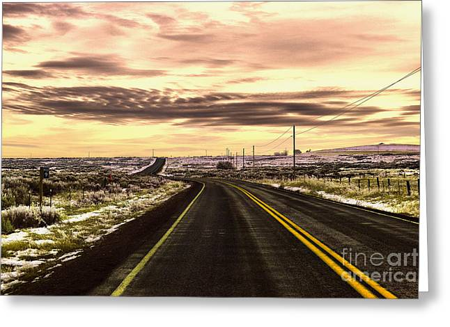 Those Long Winding Roads  Greeting Card