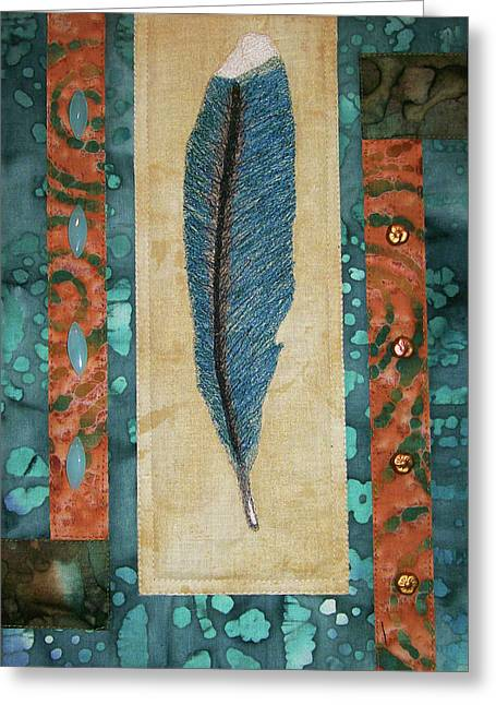 Threaded Feather Greeting Card