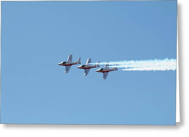 Three Canadian Snowbird Fighters Greeting Card