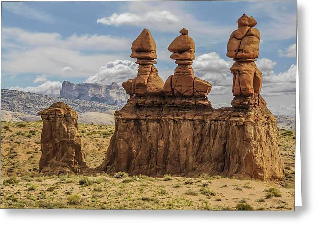 Three Sisters Hoodoos Goblin Valley State Park Greeting Card