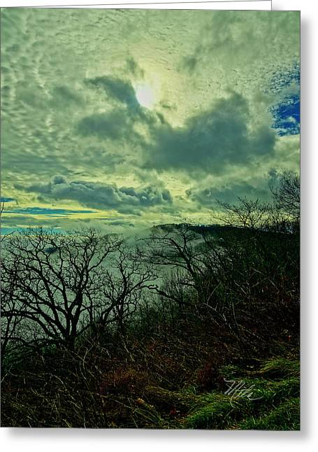 Thunder Mountain Clouds Greeting Card