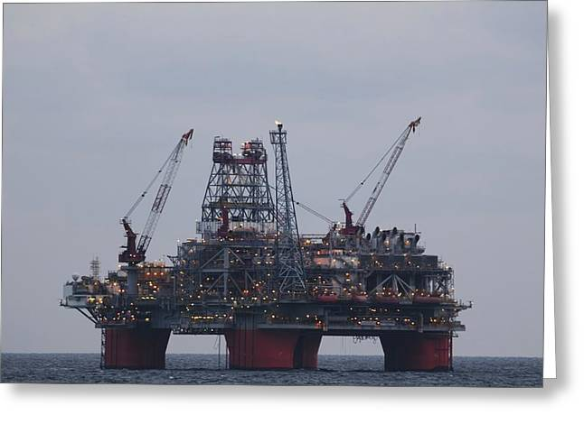 Greeting Card featuring the photograph Thunderhorse Pdq Oil Platform by Bradford Martin