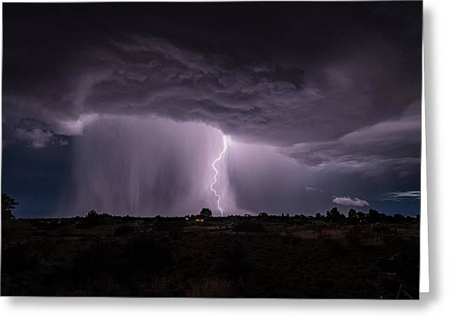 Greeting Card featuring the photograph Thunderstorm #4 by Lou Novick