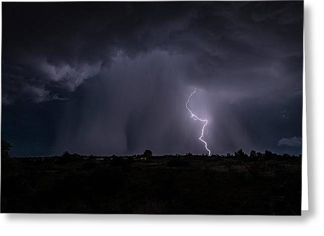 Greeting Card featuring the photograph Thunderstorm #5 by Lou Novick