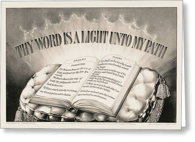 Thy Word Is A Light Unto My Path, 1872 Greeting Card