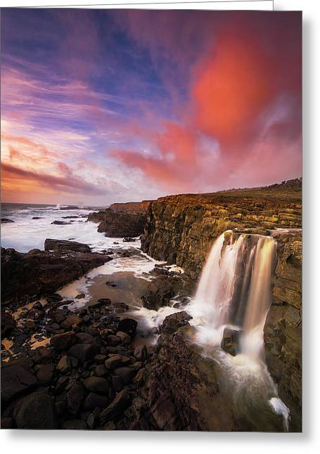 Tide Fall, Northern California Coast Greeting Card by Vincent James