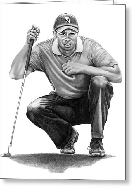 Tiger Woods Crouching Tiger Greeting Card