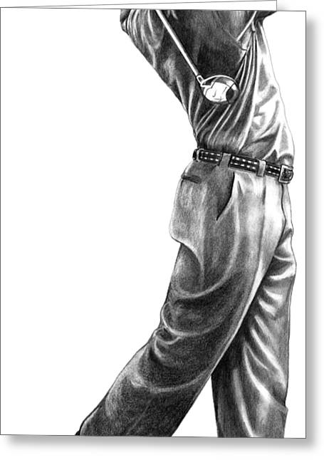 Tiger Woods Full Swing Greeting Card
