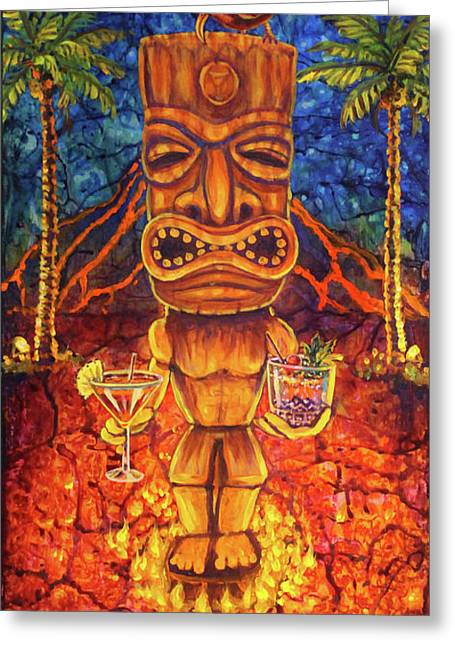 Tiki Cocktail Hour Greeting Card