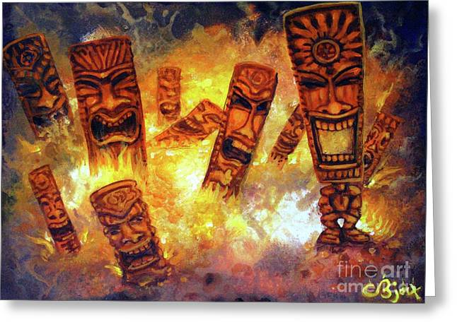 Tiki Hot Spot Greeting Card