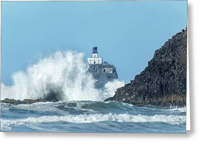 Tillamook Rock Light House, Oregon - Terrible Tilly Greeting Card