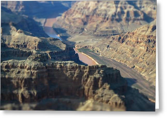 Tiltshifted Grand Canyon Greeting Card