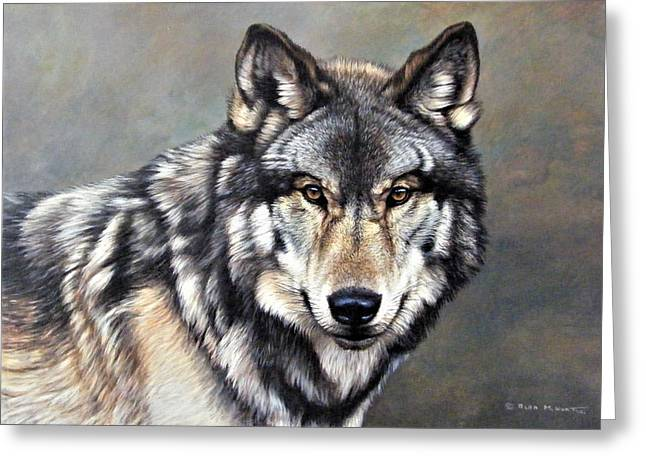 Timber Wolf By Alan M Hunt Greeting Card
