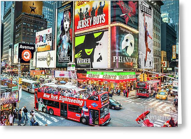 Times Square II Special Edition Greeting Card