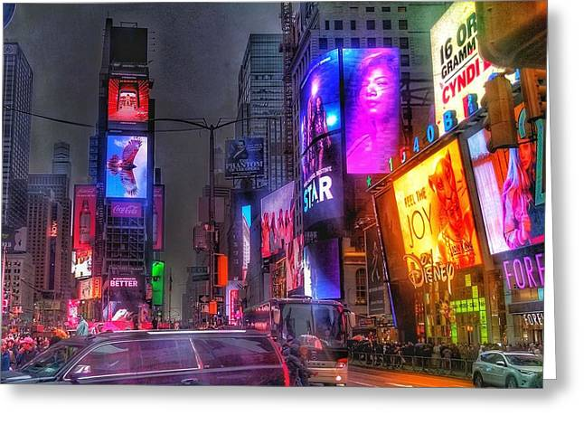 Times Square - The Light Fantastic 2016 Greeting Card