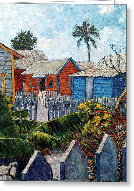 Tin Roofs And Clapboard Greeting Card