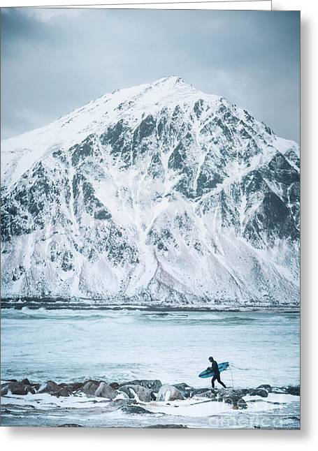 To Ride The Arctic Waves Greeting Card