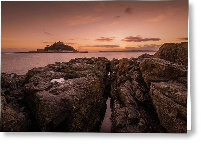To The Sunset - Marazion Cornwall Greeting Card
