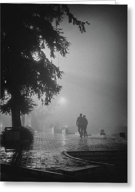Together In Fog, Sa Pa, 2014 Greeting Card by Hitendra SINKAR