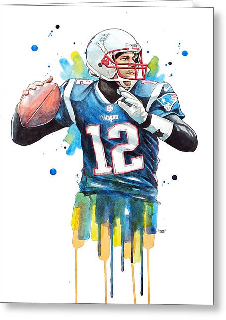 Tom Brady, Patriots, Nfl Greeting Card