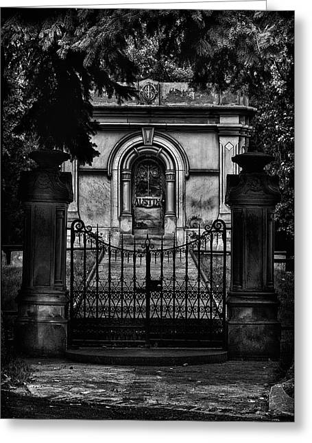 Greeting Card featuring the photograph Tombstone Shadow No 6 by Brian Carson