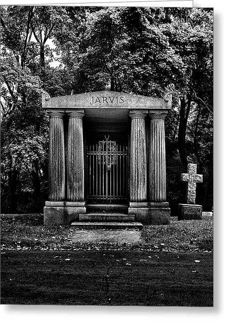 Greeting Card featuring the photograph Tombstone Shadow No 7 by Brian Carson