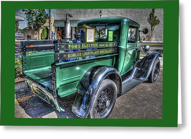 Tom's Electric Truck Greeting Card