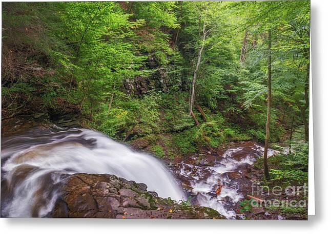 Greeting Card featuring the photograph Top Of The Falls by Sharon Seaward